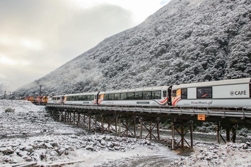 Christchurch to Arthur's Pass TranzAlpine in Winter Photo by Rob Pine