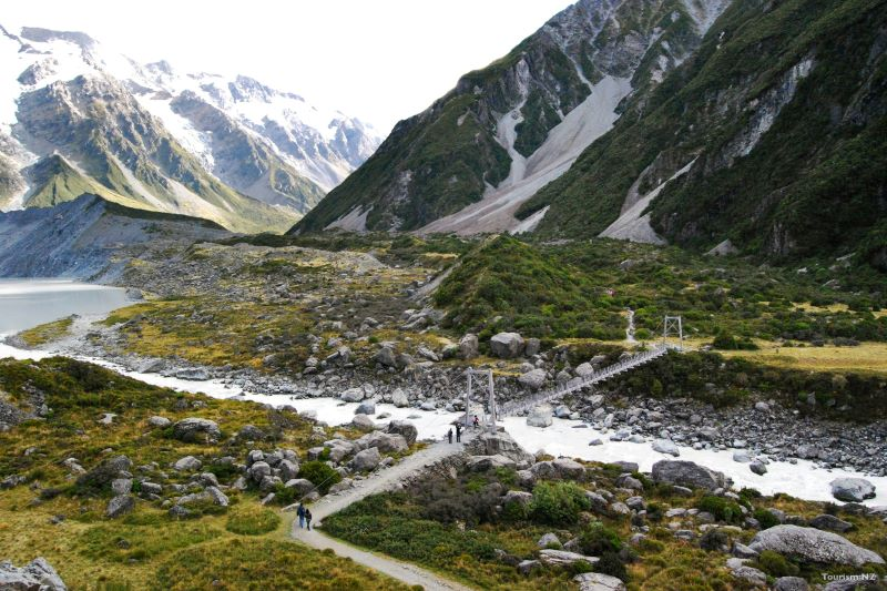 Christchurch to Aoraki - Mount Cook Hooker Valley Track Credit Tourism New Zealand